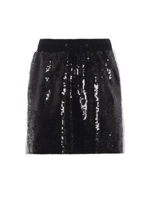 ALBERTA FERRETTI: minigonne - Minigonna nera in paillettes