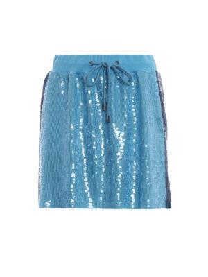 ALBERTA FERRETTI: minigonne - Minigonna azzurra in paillettes