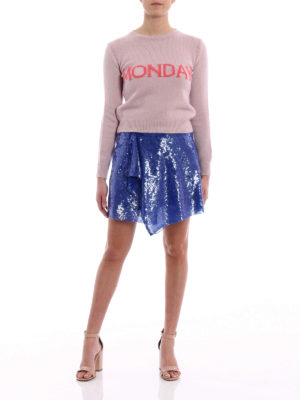 Alberta Ferretti: mini skirts online - Sequined wrap mini skirt