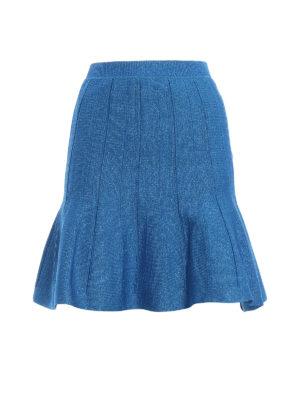 ALBERTA FERRETTI: minigonne - Minigonna godet in lamé blu elettrico