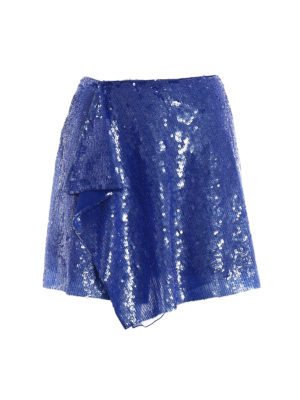 Alberta Ferretti: mini skirts - Sequined wrap mini skirt