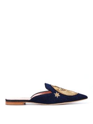 Alberta Ferretti: mules shoes - Mia embroidered moon and sun mules