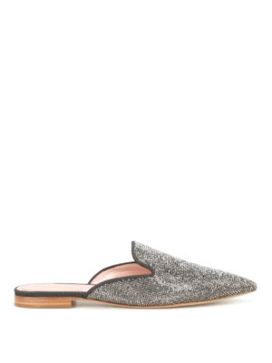 Alberta Ferretti: mules shoes - Mia fabric and crystals mules