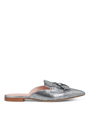 Alberta Ferretti: mules shoes - Mia laminated leather mules