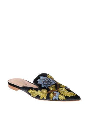 Alberta Ferretti: mules shoes online - Mia contrasting embroidery mules