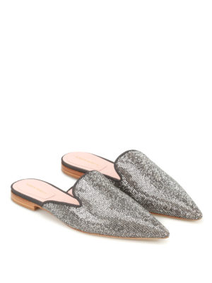 Alberta Ferretti: mules shoes online - Mia fabric and crystals mules
