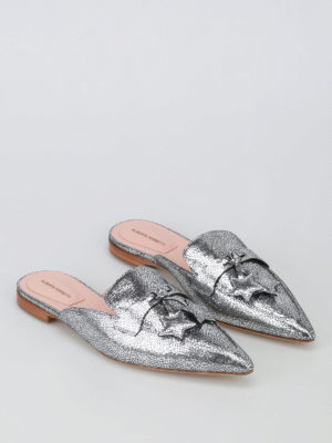 Alberta Ferretti: mules shoes online - Mia laminated leather mules