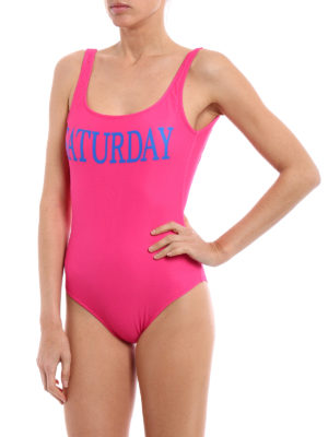 Alberta Ferretti: one-piece online - Rainbow Week Saturday swimsuit