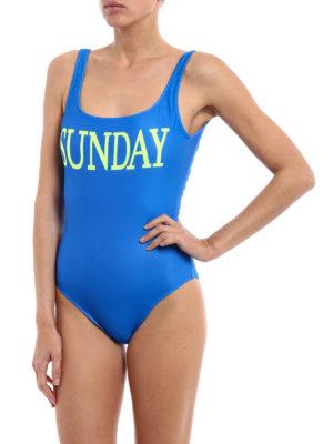 Alberta Ferretti: one-piece online - Rainbow Week Sunday swimsuit