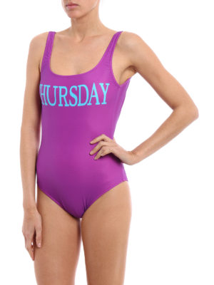 Alberta Ferretti: one-piece online - Rainbow Week Thursday swimsuit