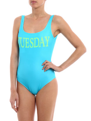 Alberta Ferretti: one-piece online - Rainbow Week Tuesday swimsuit