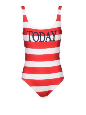 Alberta Ferretti: one-piece - Rainbow Week Stripes Today swimsuit