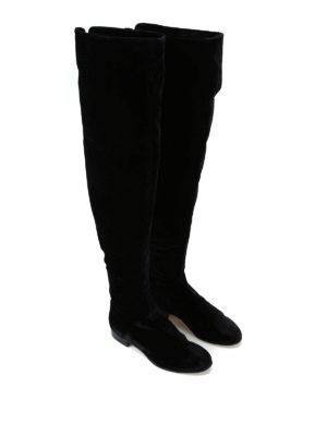 ALBERTA FERRETTI: stivali online - Stivali cuissard in velluto nero