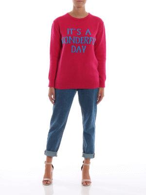 ALBERTA FERRETTI: maglia collo rotondo online - Pull It's a Wonderful Day in lana e cashmere