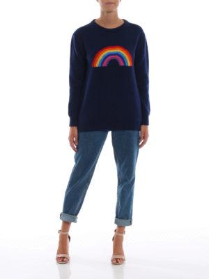 ALBERTA FERRETTI: maglia collo rotondo online - Pull in lana e cashmere con arcobaleno