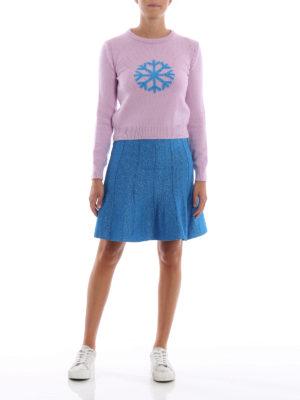 ALBERTA FERRETTI: maglia collo rotondo online - Pull in lana e cashmere con fiocco di neve