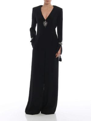 ALBERTA FERRETTI: tute online - Tuta in cady stretch con dettagli gioiello