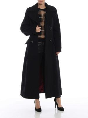 ALBERTA FERRETTI: cappotti lunghi online - Cappotto doppiopetto sciancrato in panno