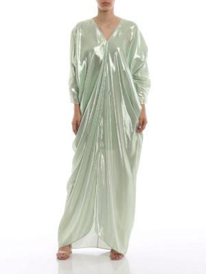 ALBERTA FERRETTI: abiti lunghi online - Abito drappeggiato in seta lamé