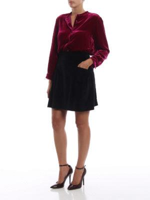 ALBERTA FERRETTI: minigonne online - Minigonna in velluto millerighe nero