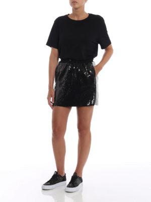 ALBERTA FERRETTI: minigonne online - Minigonna nera in paillettes
