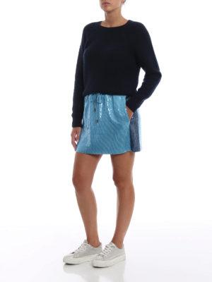 ALBERTA FERRETTI: minigonne online - Minigonna azzurra in paillettes