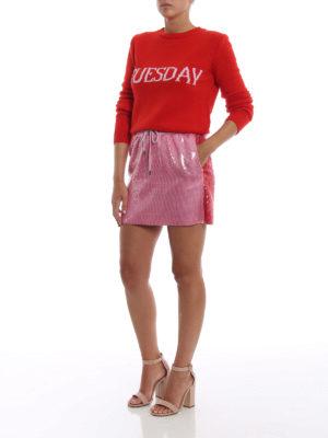 ALBERTA FERRETTI: minigonne online - Minigonna rosa in paillettes
