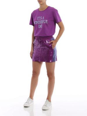 ALBERTA FERRETTI: minigonne online - Minigonna viola in paillettes
