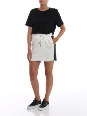 ALBERTA FERRETTI: minigonne online - Minigonna bianca in paillettes