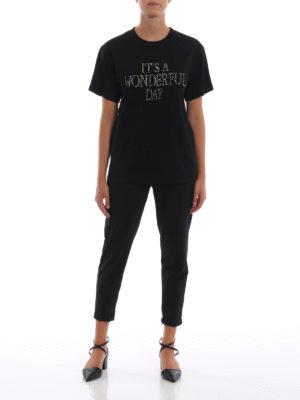 ALBERTA FERRETTI: t-shirt online - T-shirt It's a Wonderful Day nera