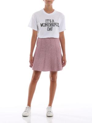 ALBERTA FERRETTI: t-shirt online - T-shirt It's a Wonderful Day bianca