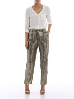 ALBERTA FERRETTI: Pantaloni sartoriali online - Pantaloni eleganti in seta effetto repltile