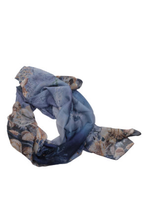 Alberta Ferretti: scarves - Sea shell print silk scarf
