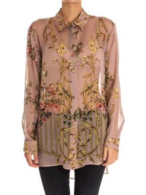 Alberta Ferretti: shirts online - Floral print oversized silk shirt