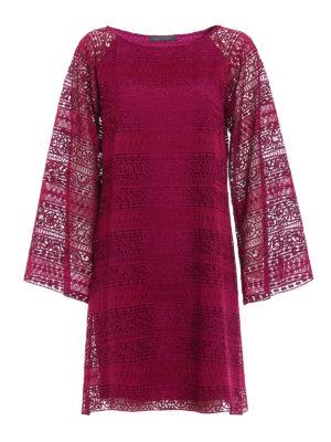 Alberta Ferretti: short dresses - Macramé flared dress