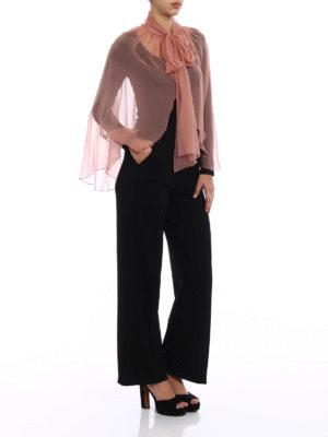 Alberta Ferretti: Stoles & Shawls online - Dust pink silk chiffon stole