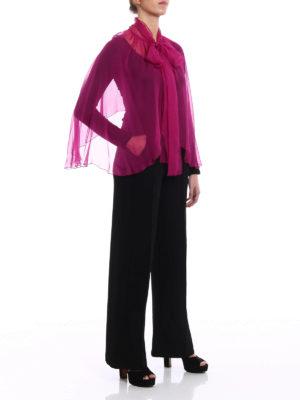 Alberta Ferretti: Stoles & Shawls online - Fuchsia silk chiffon stole