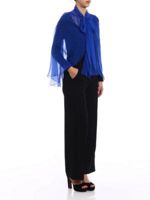 Alberta Ferretti: Stoles & Shawls online - Royal blue silk chiffon stole