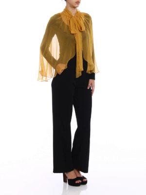 Alberta Ferretti: Stoles & Shawls online - Yellow silk chiffon stole