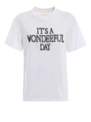 ALBERTA FERRETTI: t-shirt - T-shirt It's a Wonderful Day bianca