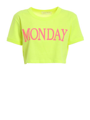 Alberta Ferretti: t-shirts - Monday cropped T-shirt