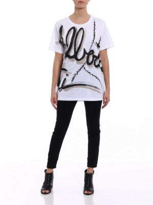 Alberta Ferretti: t-shirts online - Logo lettering print T-shirt