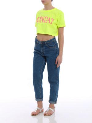 Alberta Ferretti: t-shirts online - Monday cropped T-shirt