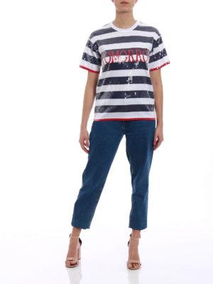 Alberta Ferretti: t-shirts online - Rainbow Week Tomorrow sequin Tee