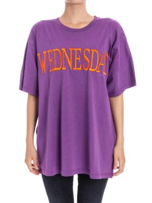 Alberta Ferretti: t-shirts online - Rainbow Week Wednesday purple Tee