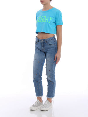 Alberta Ferretti: t-shirts online - Tuesday cropped T-shirt