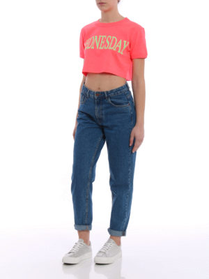 Alberta Ferretti: t-shirts online - Wednesday cropped T-shirt
