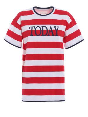 Alberta Ferretti: t-shirts - Rainbow Week Today T-shirt