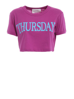 Alberta Ferretti: t-shirts - Thursday cropped T-shirt