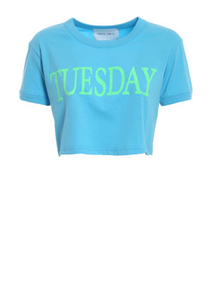 Alberta Ferretti: t-shirts - Tuesday cropped T-shirt